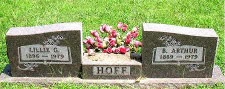 HOFF, LILLIE GERTRUDE - Boone County, Arkansas | LILLIE GERTRUDE HOFF - Arkansas Gravestone Photos