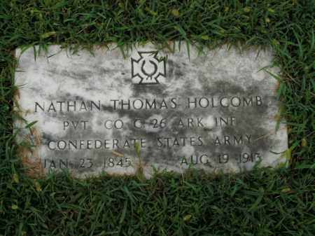 HOLCOMB  (VETERAN CSA), NATHAN THOMAS - Boone County, Arkansas | NATHAN THOMAS HOLCOMB  (VETERAN CSA) - Arkansas Gravestone Photos