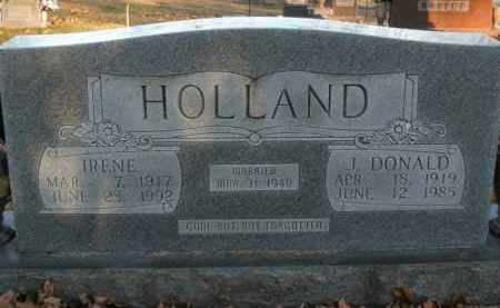HOLLAND, J. DONALD - Boone County, Arkansas | J. DONALD HOLLAND - Arkansas Gravestone Photos