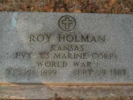 HOLMAN  (VETERAN WWI), ROY - Boone County, Arkansas | ROY HOLMAN  (VETERAN WWI) - Arkansas Gravestone Photos