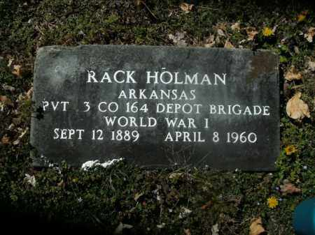 HOLMAN  (VETERAN WWI), RACK - Boone County, Arkansas | RACK HOLMAN  (VETERAN WWI) - Arkansas Gravestone Photos
