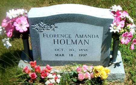 HOLMAN, FLORENCE AMANDA - Boone County, Arkansas | FLORENCE AMANDA HOLMAN - Arkansas Gravestone Photos