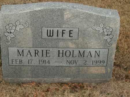 HOLMAN, MARIE - Boone County, Arkansas | MARIE HOLMAN - Arkansas Gravestone Photos