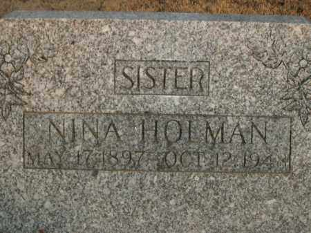 HOLMAN, NINA - Boone County, Arkansas | NINA HOLMAN - Arkansas Gravestone Photos
