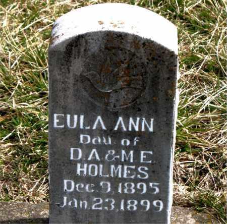 HOLMES, EULA ANN - Boone County, Arkansas | EULA ANN HOLMES - Arkansas Gravestone Photos
