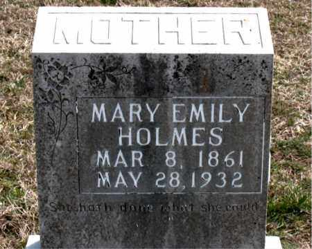 HOLMES, MARY EMILY - Boone County, Arkansas | MARY EMILY HOLMES - Arkansas Gravestone Photos