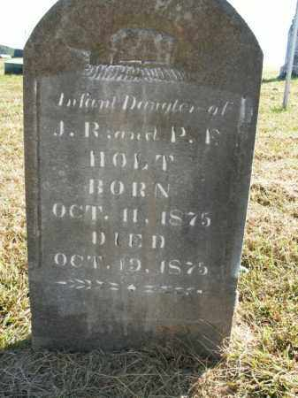 HOLT, INFANT DAUGHTER - Boone County, Arkansas | INFANT DAUGHTER HOLT - Arkansas Gravestone Photos