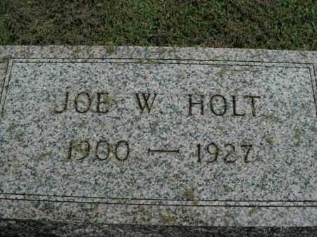 HOLT, JOE W. - Boone County, Arkansas | JOE W. HOLT - Arkansas Gravestone Photos