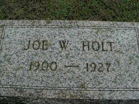 HOLT, JOE W. - Boone County, Arkansas | JOE W. HOLT - Arkansas Gravestone Photos