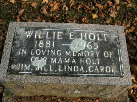 HOLT, WILLIE E. - Boone County, Arkansas | WILLIE E. HOLT - Arkansas Gravestone Photos