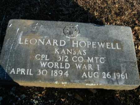 HOPEWELL  (VETERAN WWI), LEONARD - Boone County, Arkansas | LEONARD HOPEWELL  (VETERAN WWI) - Arkansas Gravestone Photos