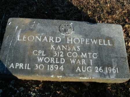 HOPEWELL  (VETERAN WWI), LEONARD - Boone County, Arkansas | LEONARD HOPEWELL  (VETERAN WWI) - Arkansas Gravestone Photos