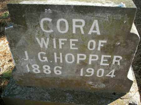 HOPPER, CORA - Boone County, Arkansas | CORA HOPPER - Arkansas Gravestone Photos