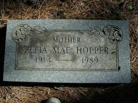 HOPPER, ELFIA MAE - Boone County, Arkansas | ELFIA MAE HOPPER - Arkansas Gravestone Photos