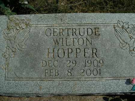 HOPPER, GERTRUDE - Boone County, Arkansas | GERTRUDE HOPPER - Arkansas Gravestone Photos