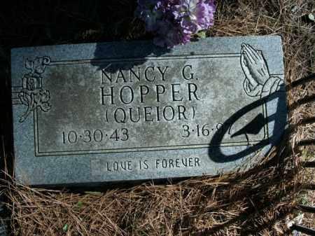 QUEIOR HOPPER, NANCY G. - Boone County, Arkansas | NANCY G. QUEIOR HOPPER - Arkansas Gravestone Photos