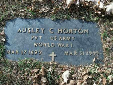 HORTON  (VETERAN WWI), AUSLEY C - Boone County, Arkansas | AUSLEY C HORTON  (VETERAN WWI) - Arkansas Gravestone Photos