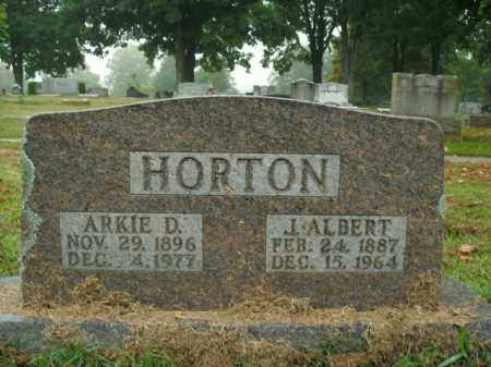 HORTON, J. ALBERT - Boone County, Arkansas | J. ALBERT HORTON - Arkansas Gravestone Photos