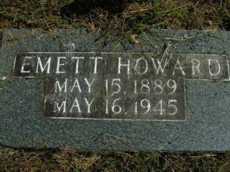 HOWARD, EMETT - Boone County, Arkansas | EMETT HOWARD - Arkansas Gravestone Photos