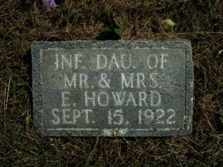 HOWARD, INFANT DAUGHTER - Boone County, Arkansas | INFANT DAUGHTER HOWARD - Arkansas Gravestone Photos