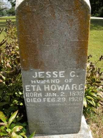 HOWARD, JESSE C. - Boone County, Arkansas | JESSE C. HOWARD - Arkansas Gravestone Photos