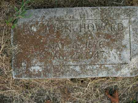 HOWARD, W. JOHN - Boone County, Arkansas | W. JOHN HOWARD - Arkansas Gravestone Photos