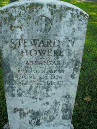 HOWELL  (VETERAN), STEWARD N. - Boone County, Arkansas | STEWARD N. HOWELL  (VETERAN) - Arkansas Gravestone Photos