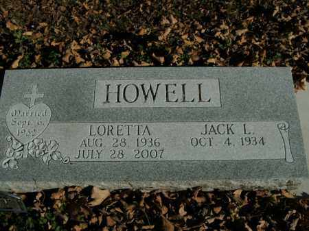 HOWELL, LORETTA - Boone County, Arkansas | LORETTA HOWELL - Arkansas Gravestone Photos