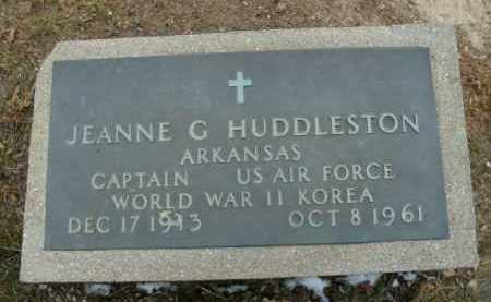 HUDDLESTON  (VETERAN 2 WARS), JEANNE G - Boone County, Arkansas | JEANNE G HUDDLESTON  (VETERAN 2 WARS) - Arkansas Gravestone Photos