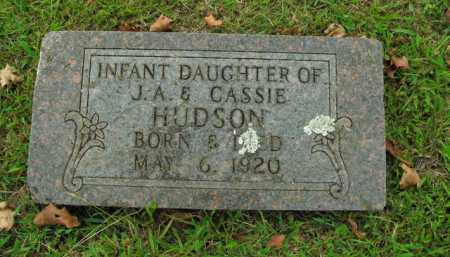 HUDSON, INFANT DAUGHTER - Boone County, Arkansas | INFANT DAUGHTER HUDSON - Arkansas Gravestone Photos