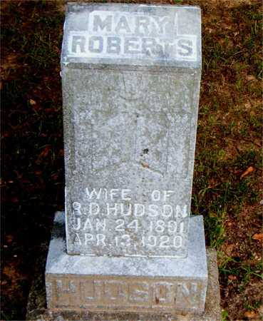 ROBERTS HUDSON, MARY - Boone County, Arkansas | MARY ROBERTS HUDSON - Arkansas Gravestone Photos