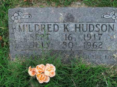 HUDSON, MILDRED K. - Boone County, Arkansas | MILDRED K. HUDSON - Arkansas Gravestone Photos