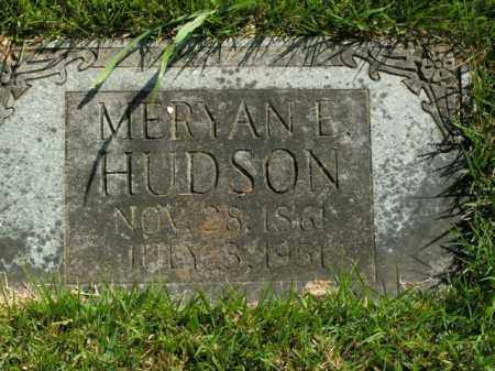 HUDSON, MERYAN E. - Boone County, Arkansas | MERYAN E. HUDSON - Arkansas Gravestone Photos