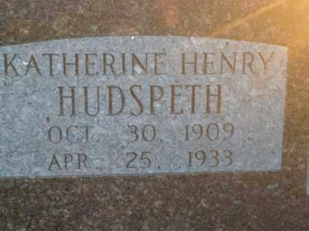 HUDSPETH, KATHERINE - Boone County, Arkansas | KATHERINE HUDSPETH - Arkansas Gravestone Photos