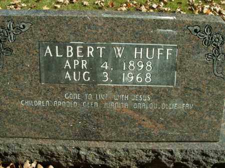 HUFF, ALBERT W. - Boone County, Arkansas | ALBERT W. HUFF - Arkansas Gravestone Photos