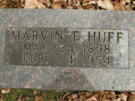 HUFF, MARVIN F. - Boone County, Arkansas | MARVIN F. HUFF - Arkansas Gravestone Photos