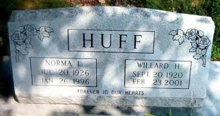 HUFF, WILLARD H. - Boone County, Arkansas | WILLARD H. HUFF - Arkansas Gravestone Photos