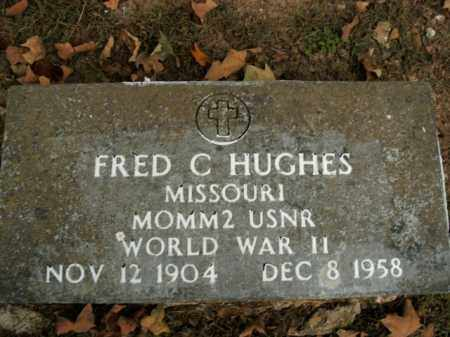HUGHES  (VETERAN WWII), FRED CLEVELAND - Boone County, Arkansas | FRED CLEVELAND HUGHES  (VETERAN WWII) - Arkansas Gravestone Photos
