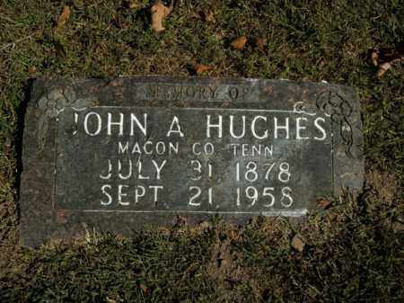 HUGHES, JOHN A. - Boone County, Arkansas | JOHN A. HUGHES - Arkansas Gravestone Photos
