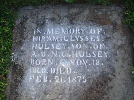 HULSEY, HIRAM ULYSSES - Boone County, Arkansas | HIRAM ULYSSES HULSEY - Arkansas Gravestone Photos