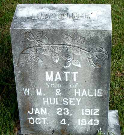 HULSEY, MATT - Boone County, Arkansas | MATT HULSEY - Arkansas Gravestone Photos