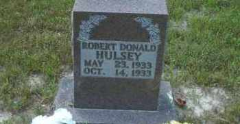 HULSEY, ROBERT DONALD - Boone County, Arkansas | ROBERT DONALD HULSEY - Arkansas Gravestone Photos
