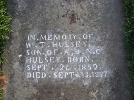 HULSEY, W. T. - Boone County, Arkansas | W. T. HULSEY - Arkansas Gravestone Photos
