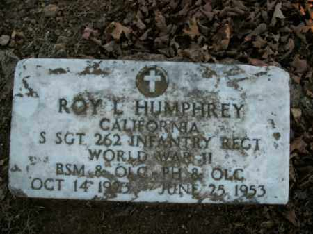 HUMPHREY  (VETERAN WWII), ROY L - Boone County, Arkansas | ROY L HUMPHREY  (VETERAN WWII) - Arkansas Gravestone Photos