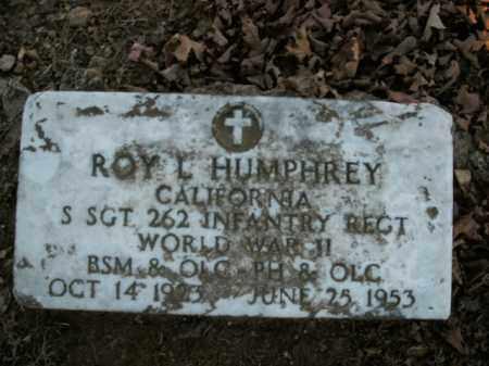 HUMPHREY  (VETERAN WWII), ROY L - Boone County, Arkansas | ROY L HUMPHREY  (VETERAN WWII) - Arkansas Gravestone Photos