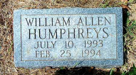 HUMPHREYS, WILLIAM ALLEN - Boone County, Arkansas | WILLIAM ALLEN HUMPHREYS - Arkansas Gravestone Photos