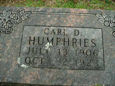 HUMPHRIES, CARL D. - Boone County, Arkansas | CARL D. HUMPHRIES - Arkansas Gravestone Photos