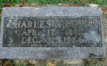 HUNKLER, CHARLES - Boone County, Arkansas | CHARLES HUNKLER - Arkansas Gravestone Photos