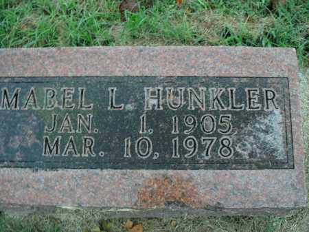 HUNKLER, MABEL L. - Boone County, Arkansas | MABEL L. HUNKLER - Arkansas Gravestone Photos