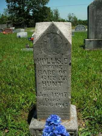 HUNT, HOLLIS E. - Boone County, Arkansas | HOLLIS E. HUNT - Arkansas Gravestone Photos